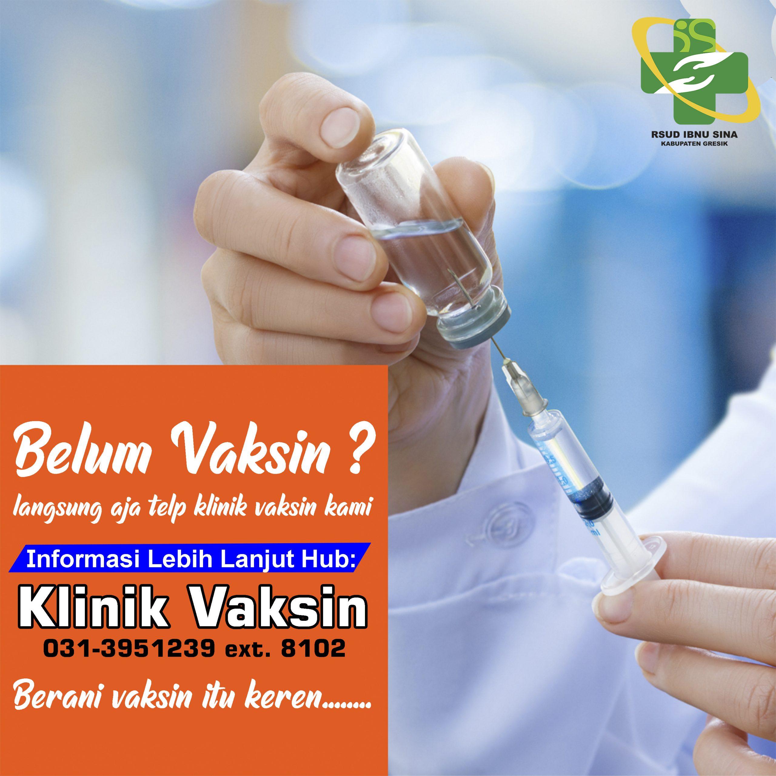 Klinik Vaksin RSUD Ibnu Sina Kab. Gresik
